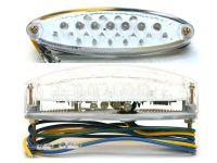 Rücklicht + Bremslicht Oval mit Kennzeichenbeleuchtung klar