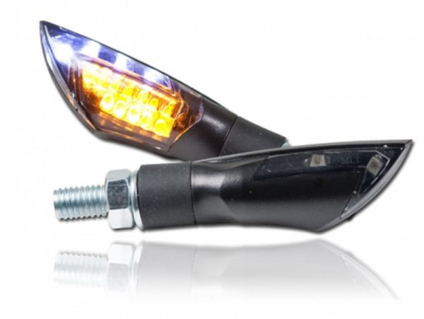 DUAL LED turn signal with parking light dark tinted