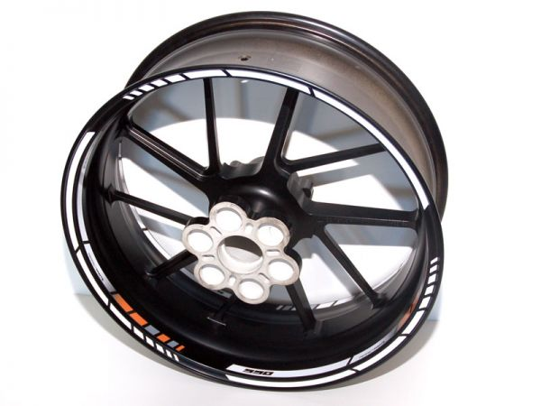 Rim well sticker NEW GP RACE for KTM 990 orange-white-black