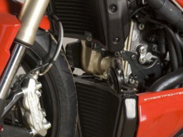 Kühlergitter Set Wasser und Öl schwarz für Ducati Streetfighter 848 (2012-2015) S (2012-2013)