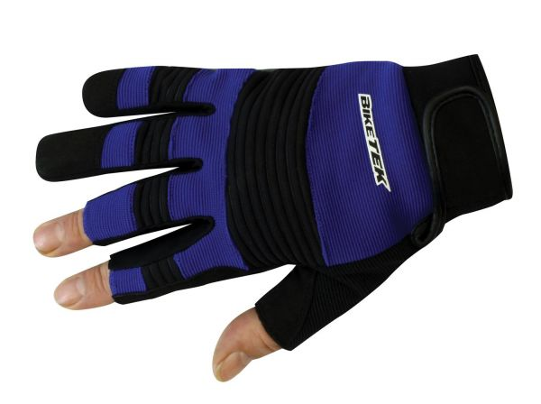Working gloves 3 open fingers from Biketek