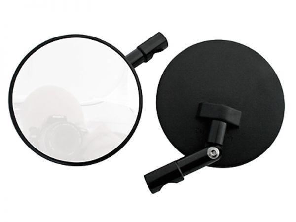 Lenkerendenspiegel rund schwarz Spiegelarm verstellbar