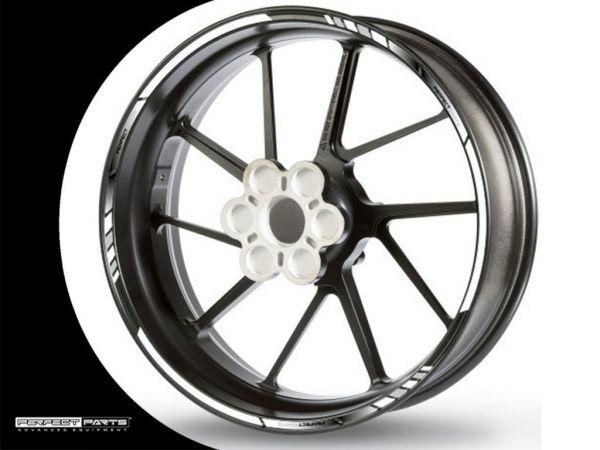 Rim edge sticker GP Race white-chrome-black