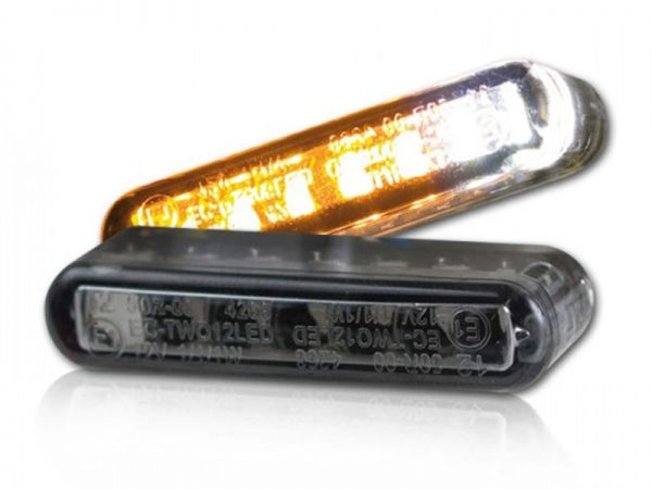 Streak LED in-built turn signal with position light tinted