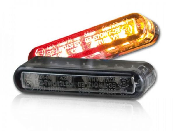 Streak LED recessed indicators with tinted rear brake light