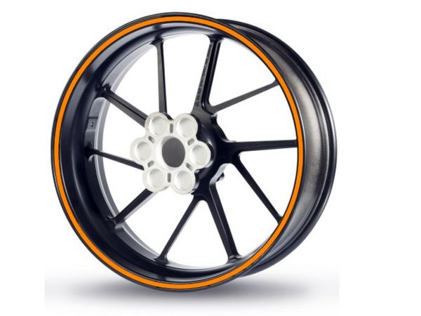 Rim edge sticker Racing 5mm orange