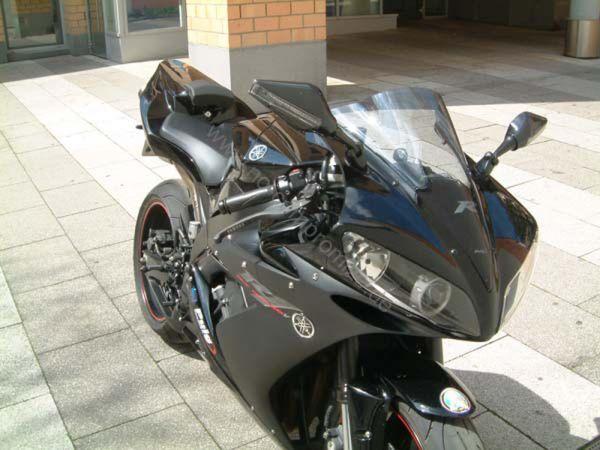 Miroir de clignotant 6253-6254 pour Yamaha R1 R6 noir