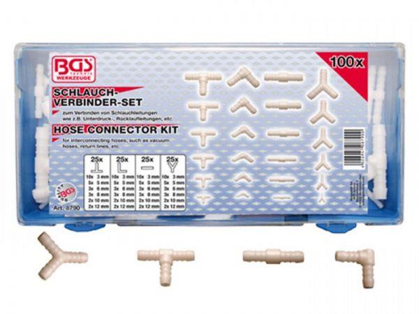 Assortment of connectors for rubber and plastic hoses 100 pcs. each 25 x T L I Y-connectors