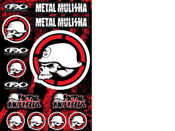 METAL MULISHA 2 set d'autocollants 33 x 50 cm