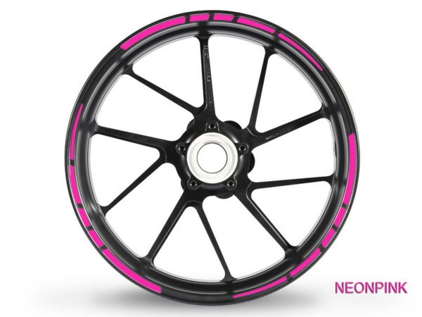 Adesivo bordo cerchione GP Race 2 colori neon rosa neon