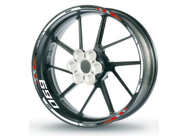 Rim edge sticker for KTM 690 red-white-black