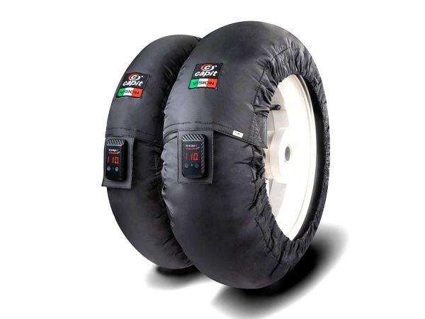 CAPIT Reifenwärmer Nomex Suprema Vision vorn 120|17 hinten 185-205|17 schwarz