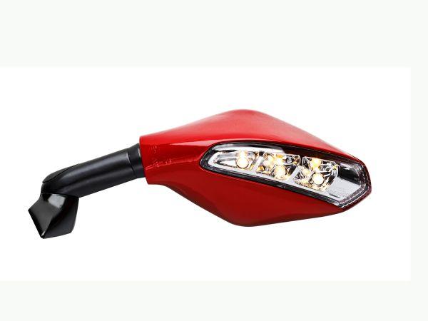 Blinkerspiegel 7726-7727 rot für Ducati Panigale V4 | V2