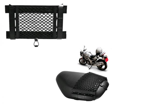 Luggage net for motorcycle and scooter
