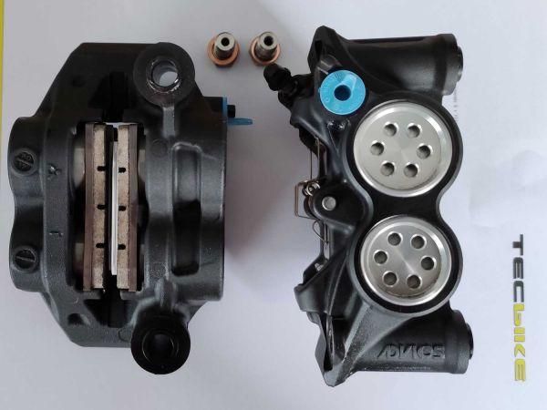 Bremszangen aus Yamaha R1 RN65 mit Z04 Bremsbelägen