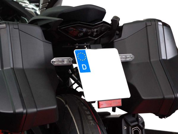 Soporte de matrícula IQ1 para Kawasaki Z1000 SX Tourer (2014-2019) | Z1000 SX (2017-2019)