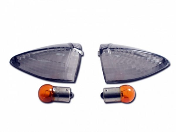 Indicator lenses for Suzuki GSR 750 DL 650 dark tinted