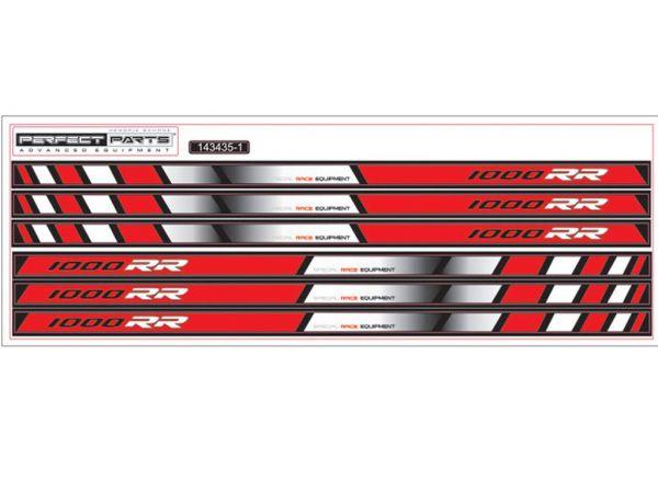 Felgenbettaufkleber NEW GP RACE für BMW S1000RR rot-weiß-schwarz