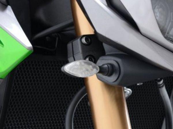 Turn signal adapter plates for various Kawasaki