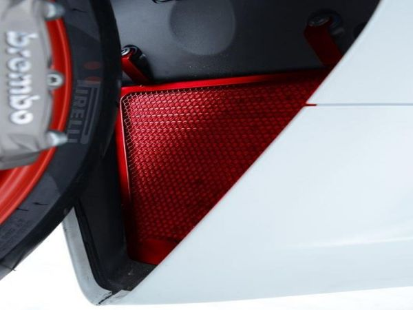 Kühlergitter Set Wasser und Öl rot für Ducati Panigale 899 959 1199 1299 V2