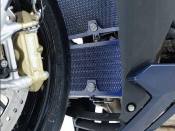 Refroidisseur d'huile de calandre bleu foncé pour la BMW S1000R XR (2014-2020)