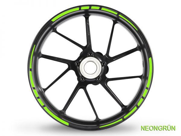 Felgenrandaufkleber GP Race 2 Neonfarben neongrün