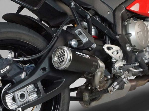 BODIS GPC-RS II-GEX para BMW S1000XR (2015-2019) acero inoxidable negro
