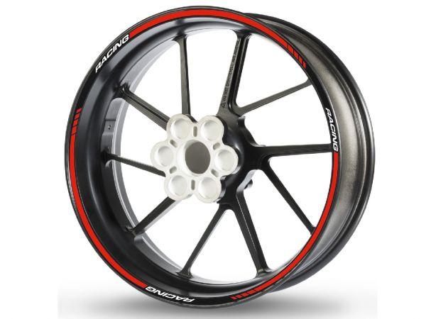 Adesivo bordo cerchio RACING-1 rosso