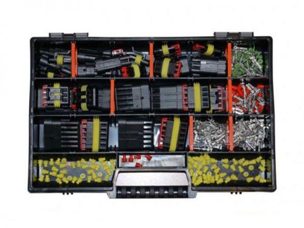 Tyco AMP Superseal Starter Set surtido 1 - 6 polos, carcasa de pin y zócalo, para 0,35mm² - 2,50mm²