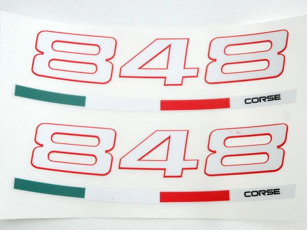 Adesivo adesiva cerchio well sticker per Ducati 848, EVO Streetfighter 848 CORSE