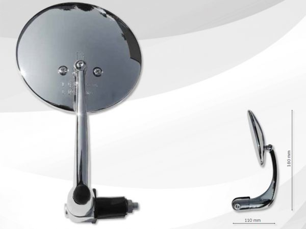 Bar end mirror 7454 Cafe Racer 16-20 mm