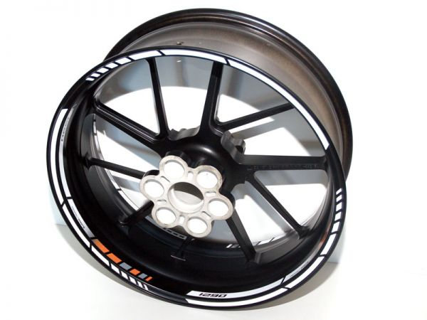 Rim well sticker NEW GP RACE for KTM Super Duke R 1290 orange-white-black