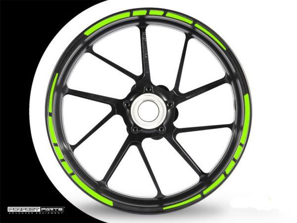 Adesivo bordo cerchio GP Race 2 verde