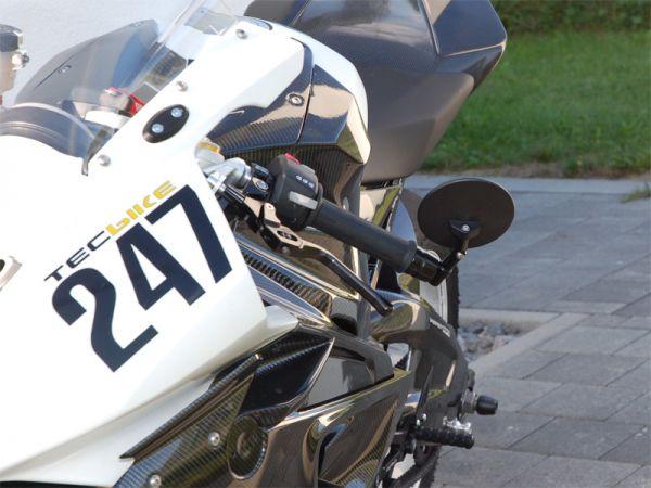 Lenkerendenspiegel für BMW S1000RR S1000R mit Adapter für BMW Lenkergewicht