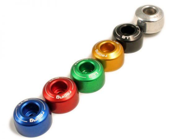 Handlebar weights for handlebars with inner diameter 17 mm silver
