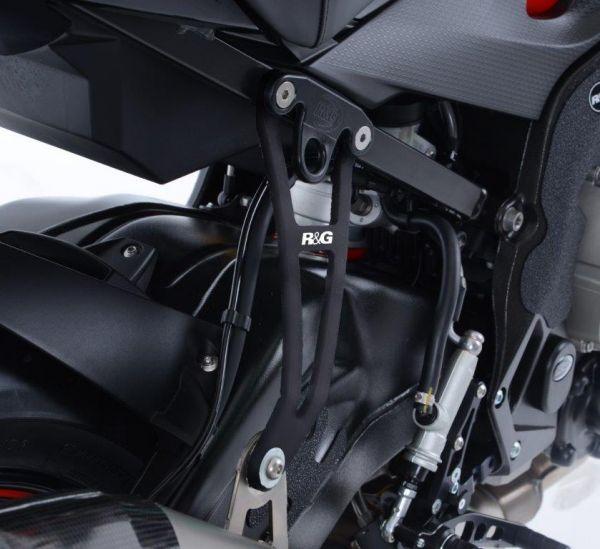 Support d'échappement noir pour la BMW S1000R (2017-2020) pour l'échappement Akrapovic