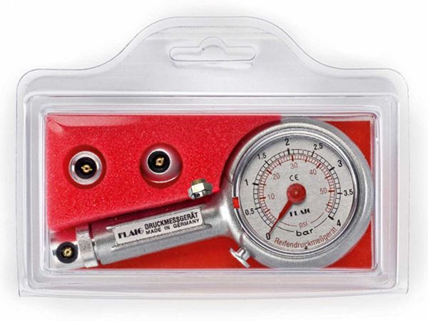 Flaig Luftdruckprüfer 0-4 Bar mit 0° | 45° | 90°