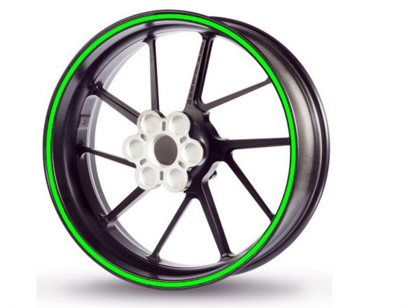 Adesivo bordo cerchio Racing 5mm verde