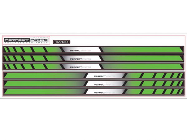 Felgenbettaufkleber NEW GP RACE grün-weiß-schwarz