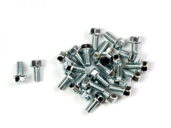 Hexagon head screws M6 25 pieces different lengths