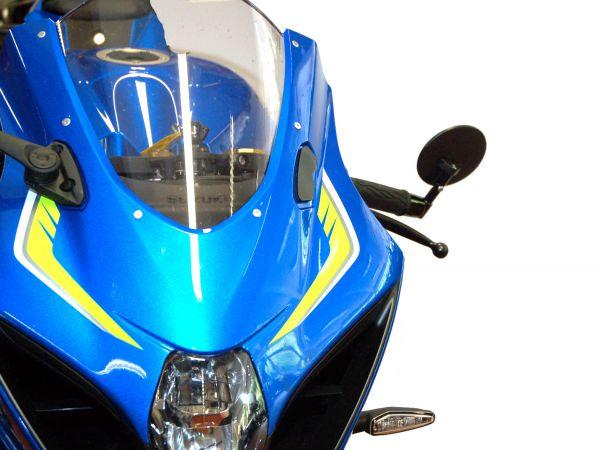 Bar end mirror for Suzuki GSX-R 1000 with adapter for Suzuki handlebar weight