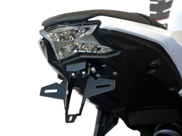 Titulaire de la plaque d'immatriculation IQ1 pour Kawasaki Ninja 650 (2017-2021)