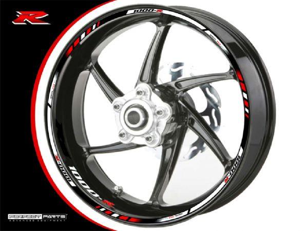 Rim edge sticker for Suzuki GSX-R 1000 white-black-red