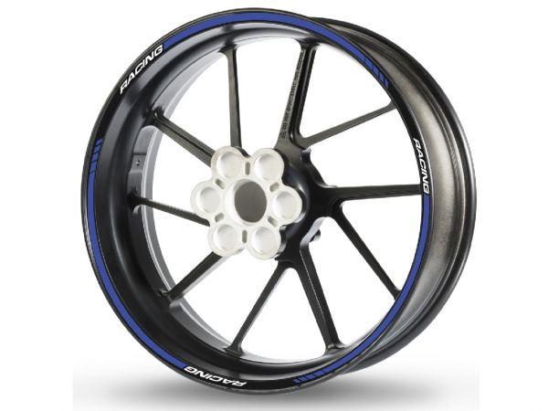 Adesivo bordo cerchio RACING-1 blu