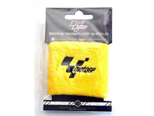 MotoGP sweatband for brake fluid reservoir or wrist yellow