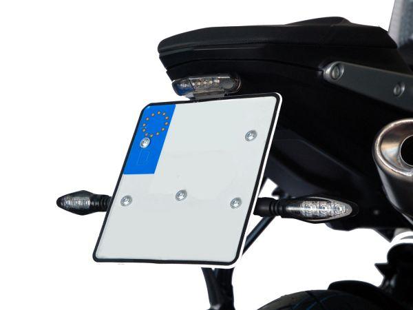 Support de plaque d'immatriculation IQ1 pour KTM 790 | 890 Duke (2018-2021) avec feu arrière TB2.1