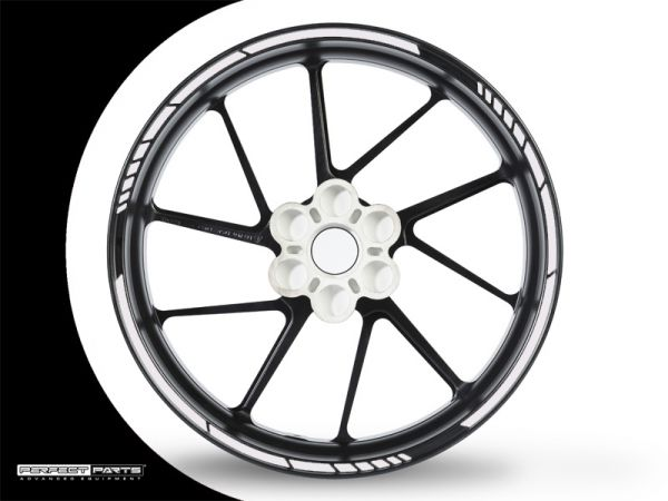 Rim edge sticker GP Race chrome