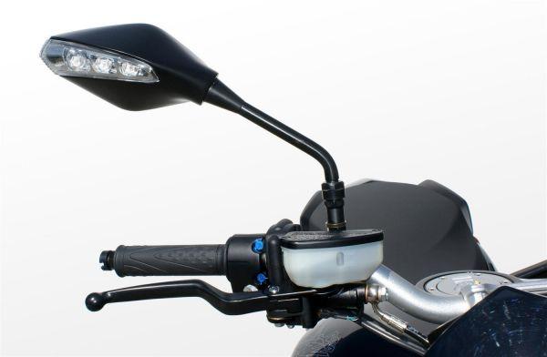 Espejo indicador 7513-7514 para el manillar negro E-approved