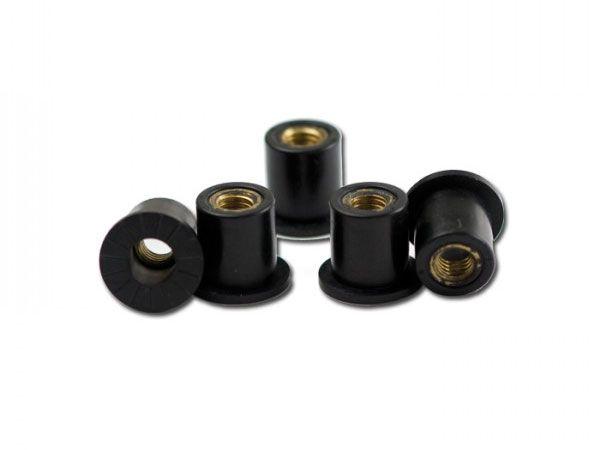 Gummimutter M6 - Maße: Ø 12 -5 x 15mm - (10 Stück)