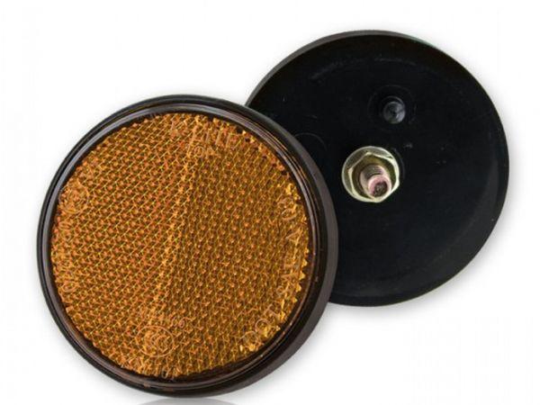 Reflektor Sixty rund gelb mit Bolzen 6 MM